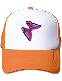 dfegyfr Purple Butterfly Adjustable Sports Mesh Baseball Tapas Trucker Cap  Sun Hats Multicolor7 c2ddf2c44ce