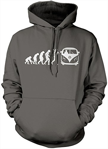 HotScamp Premium Evolution of Camper Van Hoodie - Adults, Teens and Kids Unisex Hoody Many Colours All Sizes Hoodie