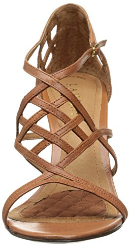 Lauren Ralph Lauren Sydney Dress Sandal Polo Tan Kidskin