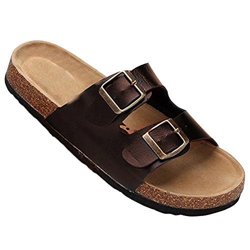 Tongs Chaussures Unisexe Adulte - Mules Sandales Femme Chaussures - Chaussures en Liège Sandales Pour Homme Marron