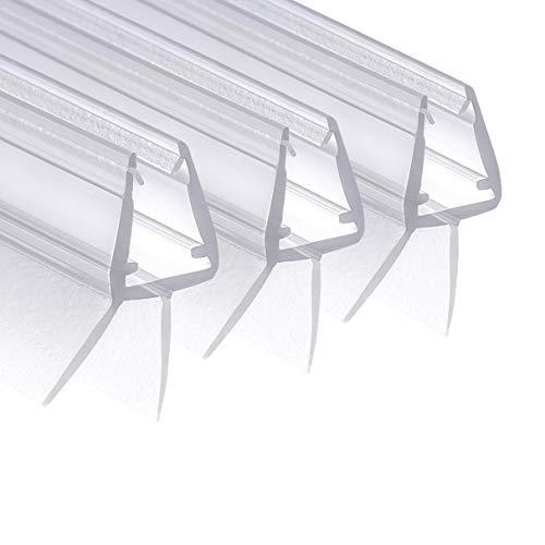 Wellba Premium Duschkabinen-Dichtung (3 x 80 cm) - Duschtür Dichtung für Glastür mit 6mm 7mm oder 8mm Dicke - Wasserabweisende Duschdichtung mit optimal angeordneten Gummilippen