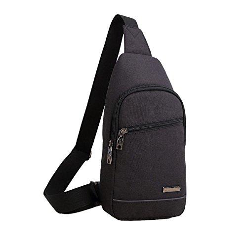 Oxford Tuchmänner Kastenbeutelfreizeit-Schulterbeutel Sports Diagonales Paket Black