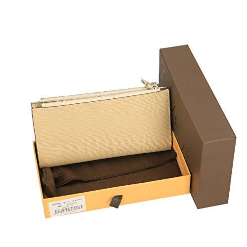 Chicca Borse Portafogli in pelle 12x9x3 100% Genuine Leather Beige
