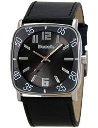Bench BC0232BKBK - Reloj de caballero de cuarzo, correa de plástico color negro