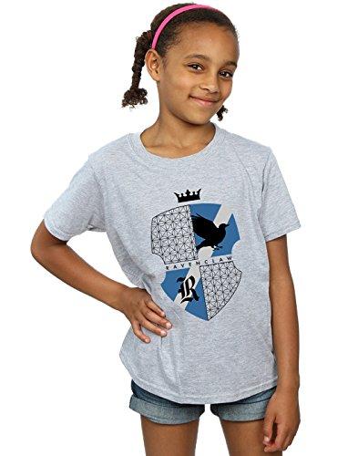 Harry Potter Mädchen Ravenclaw Shield T-Shirt Sport Grau 9-11 Years