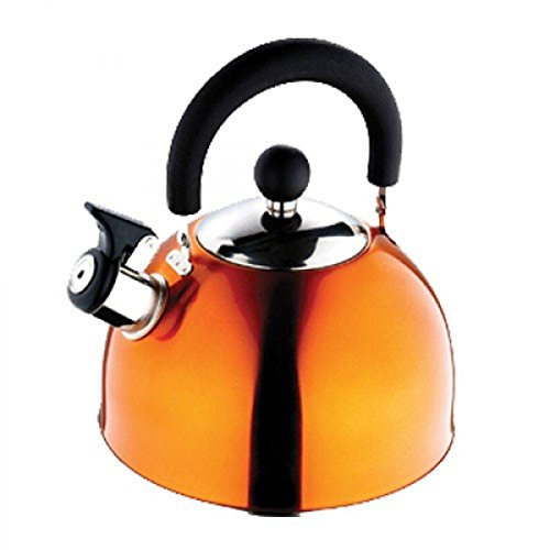 Renberg Induction Base Stainless Steel Whistling Kettle, 2.25 ltr, 1 piece (Orange)