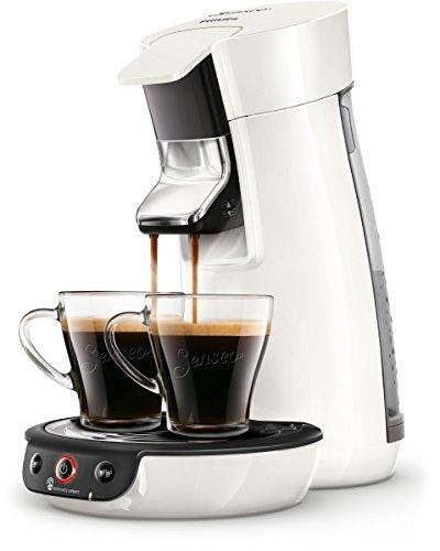 Philips Senseo Viva Café HD6563/00 Kaffeepadmaschine (Crema plus, Kaffee-Stärkeeinstellung) weiß (Weiß Automatische Kaffeemaschine)