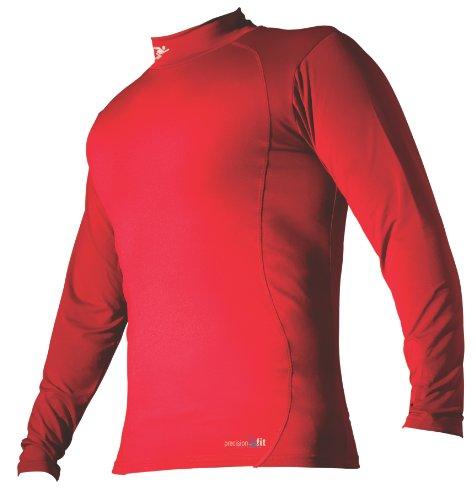 Precision Rollkragen-Shirt langärmlig Basisschicht XS rot (Mock Rollkragen-shirt Base Layer)