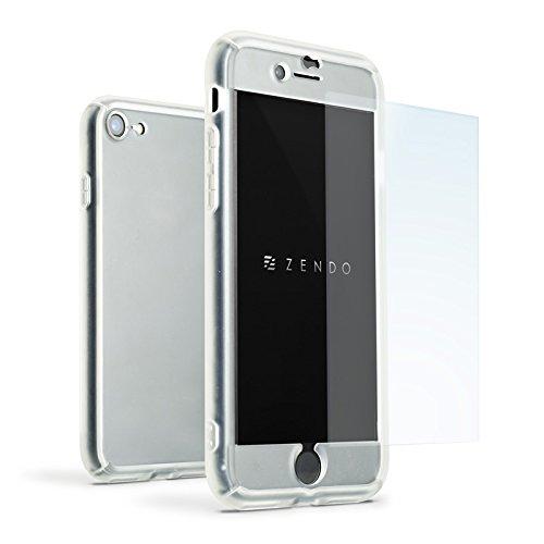 ZENDO iPhone 7 Shockproof Case Asahi 9H Grade Tempered Glass ...