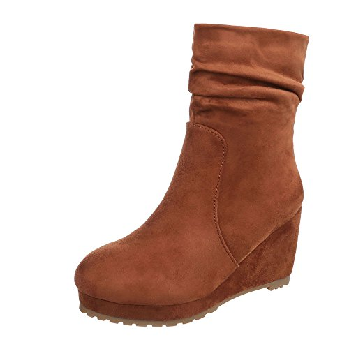 Ital-design - Chaussures À Plateforme Femme Light Marron