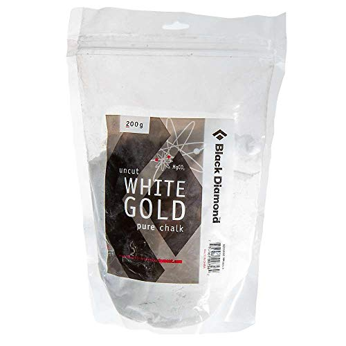 Black Diamond White Gold Loose Chalk Magnesium zum Klettern, Bouldern, Turnen, 300g
