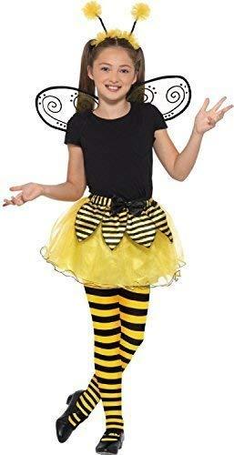 Mädchen Honigfarbene Hummel Mini Biest Insekten Tier Welttag des Buches-Tage-Woche Tv Film Kostüm Kleid Outfit Satz (Beste Welttag Des Buches Kostüme)