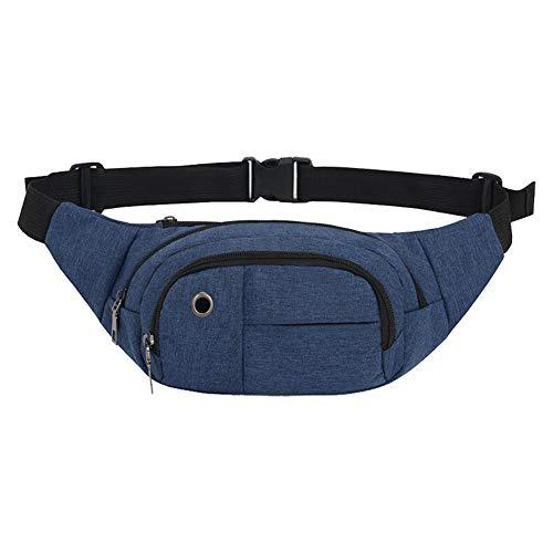 Cdet 1x Einfarbig Sporttasche Bauchtasche Hüfttasche Herren Damen Running Belt TascheHalter militär gürtel Wandern Camping Laufen (Blau)