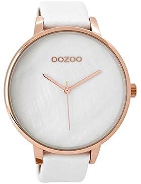 Oozoo XXL Damen-Armbanduhr Weiß/Rosé C8921