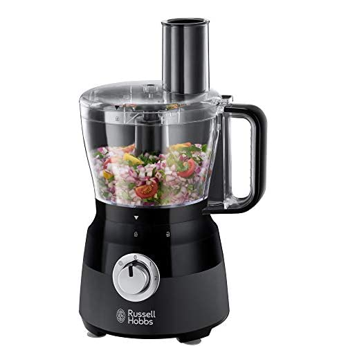 41swYL8ydYL. SS500  - Russell Hobbs 24732 Desire Food Processor, 1.5 Litre Food Mixer with 5 Chopping, Slicing and Dough Attachments, Matte Black, 600 W