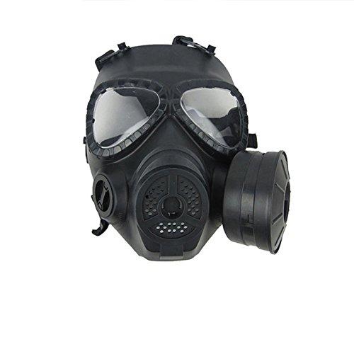 Finlon CS Maschera protezione viso per giochi Counter Strike, paintball, Airsoft, giochi di guerra, maschera per gas tossici, Finlon-2TYU6, Nero