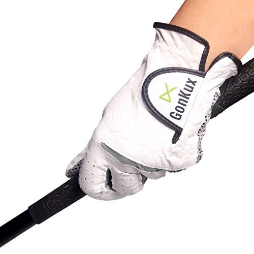 Andux golf guanti guanti di slittamento resistenti Guanti in pelle Sport GFST-02 (Mano sinistra, (Guanti Moto Meteo Pelle)