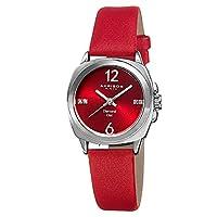 Akribos XXIV Women's Diamond Dial Leather Band Watch - AK742RD