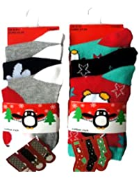 Fille coton riche Lot de 3 chaussettes de Noël Design