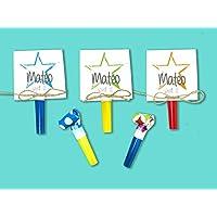 Einladungskarten Kindergeburtstag mit Stern inkl. Party Tröte