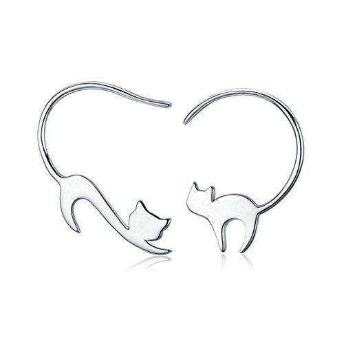 NYAOLE Katze Geformte Ohrringe Cute Kitten Cat Studs Anhänger Ohrringe Schmuck Geschenke für Katzenliebhaber -