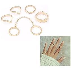 ILOVEDIY verstellbaren Ring Ringe Nagel-Ring Europa und Amerika Retro personalisierten Schmuck Ring Mädchen Kombination