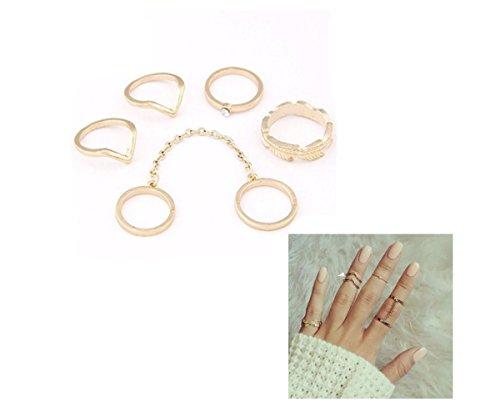 Preisvergleich Produktbild ILOVEDIY verstellbaren Ring Ringe Nagel-Ring Europa und Amerika Retro personalisierten Schmuck Ring Mädchen Kombination