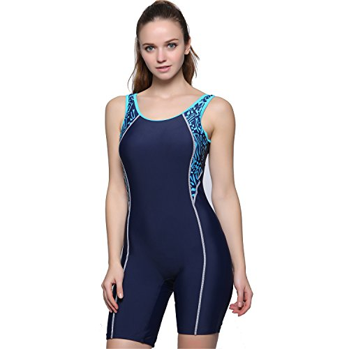 Modeokker Women Swimsuit Swimming Costume One Piece Sport Flat Seams Athletic Swimsuit With Chest Pads