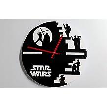 Reloj de pared original de Star Wars, metacrilato, silencioso, moderno