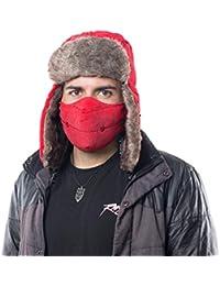 Amazon.it  cappello invernale - Rosso   Cappelli aviatore   Cappelli ... 1b64b07e634b