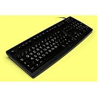 Large print, black, CHERRY keyboard, USB