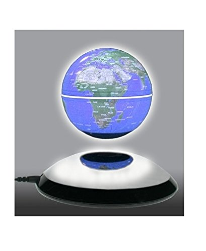 FU311 Magnetschwebeglobus, leuchtend (Gegen Den Uhrzeigersinn Sehen)