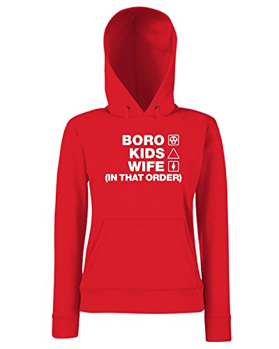 T-Shirtshock - Sweats a capuche Femme WC1236 middlesbrough-kids-wife-order-tshirt design Rouge