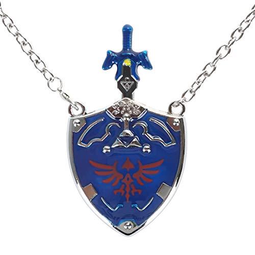 cosplaystudio Legend of Zelda Halskette mit Master Schwert & Hyrule Schild Anhänger von Link