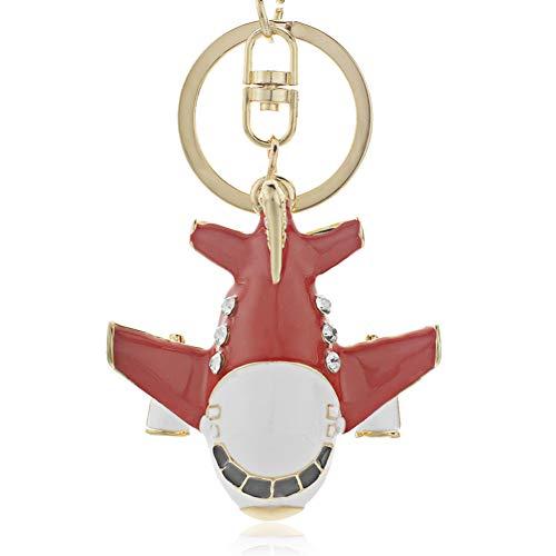 DCFVGB Vivid Cricket Aircraft Crystal Keychain Schlüsselbund Brieftasche Tasche Anhänger Schlüsselbund Halter Ring Auto