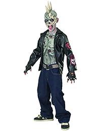 Zombie Punker Kostüm für Kinder Halloween Verkleidung Large Large
