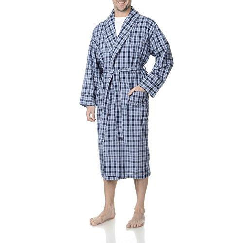 Hanes Herren-robe (Hanes herren Hanes Men's Woven Shawl Collar Robe  Bademantel  -  blau - )
