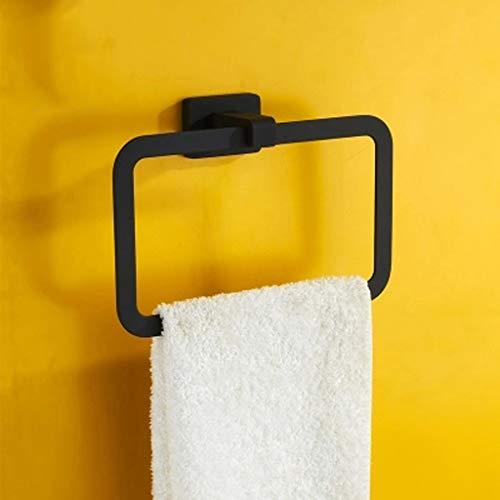Zeitgenössische Schwarz Lagerung (ZHANGY Handtuchring, Handtuchhalter, Kleiderbügel Badezimmer Zubehör Lagerung Platz Schwarz Zeitgenössische Hotel Stil Wandbehang)