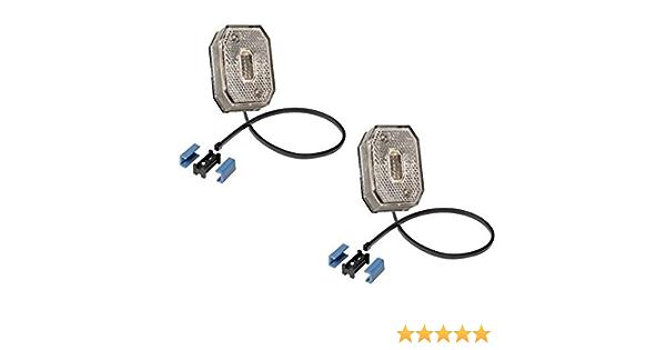 Fkanhängerteile 2 X Aspöck Flexipoint 1 Weiss Mit 0 5 M Dc Kabel Dc Verbinder 31 6509 027 Auto