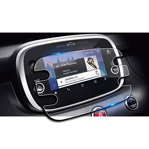 LFOTPP Fiat 500x Navigazione Pellicola Protettiva in Vetro Temperato Screen Protector Film - 9H Antigraffio HD Alta Trasparente Glass