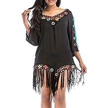 Luckycat Traje de baño de Playa Cubrir Crochet Vestido de Playa Abrigo de baño Vestido de