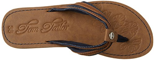 Tom Tailor 2791611, Tongs Femme Bleu (navy-camel)