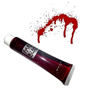 Gifts 4 All Occasions Limited SHATCHI-1452 Shatchi-Fake Blood Halloween Costume Fancy Accessory Makeup Dress Up Vampire Zombie Maquillaje Face Paint Theatrical Fun, Rojo