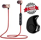 BYLKO Combo of in-Ear Wireless Bluetooth Music Earphone and Bluetooth Headset with Mic
