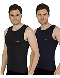 Semantic Pack Of 2 - Mens Gym Vest - 100% Cotton - Size S, M, L & XL (Small, Medium, Large & Extra Large) 70 To...