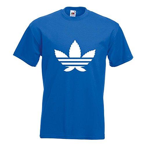 KIWISTAR - Cannabis Hanfblatt T-Shirt in 15 verschiedenen Farben - Herren Funshirt bedruckt Design Sprüche Spruch Motive Oberteil Baumwolle Print Größe S M L XL XXL Royal