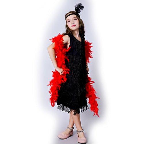 Sea Hare Süßes Flapper-Kinderkostüm der Mädchen (Black, L:10-12 Years)