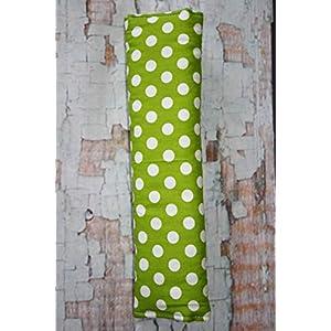 Auto Gurtpolster für Kinder und Erwachsene grün weiß gepunktet Dots Tupfen Punkte