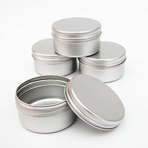 dosen aus aluminium 12 x 50ml leer kapazit t f r make up kosmetik kerzen gew rze beh lter. Black Bedroom Furniture Sets. Home Design Ideas