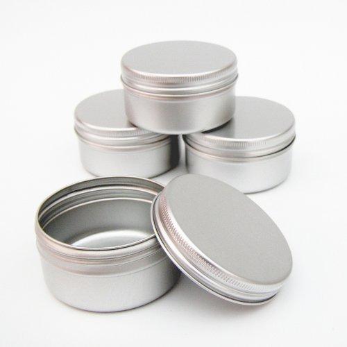 Pot 50 ml en aluminium pour vide petit maquillage cosmétiques/bougie/épices (lot de 12)